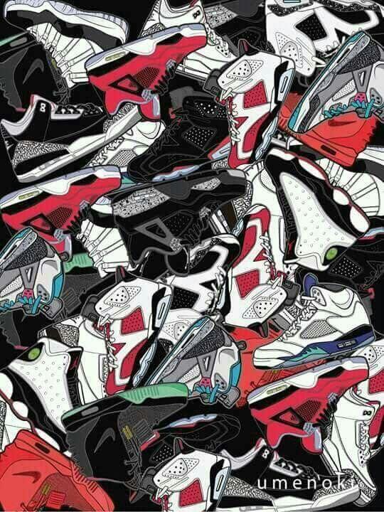 Pin By Megan Puglise On Tat It Up Nike Wallpaper Sneakers Wallpaper Sneaker Art