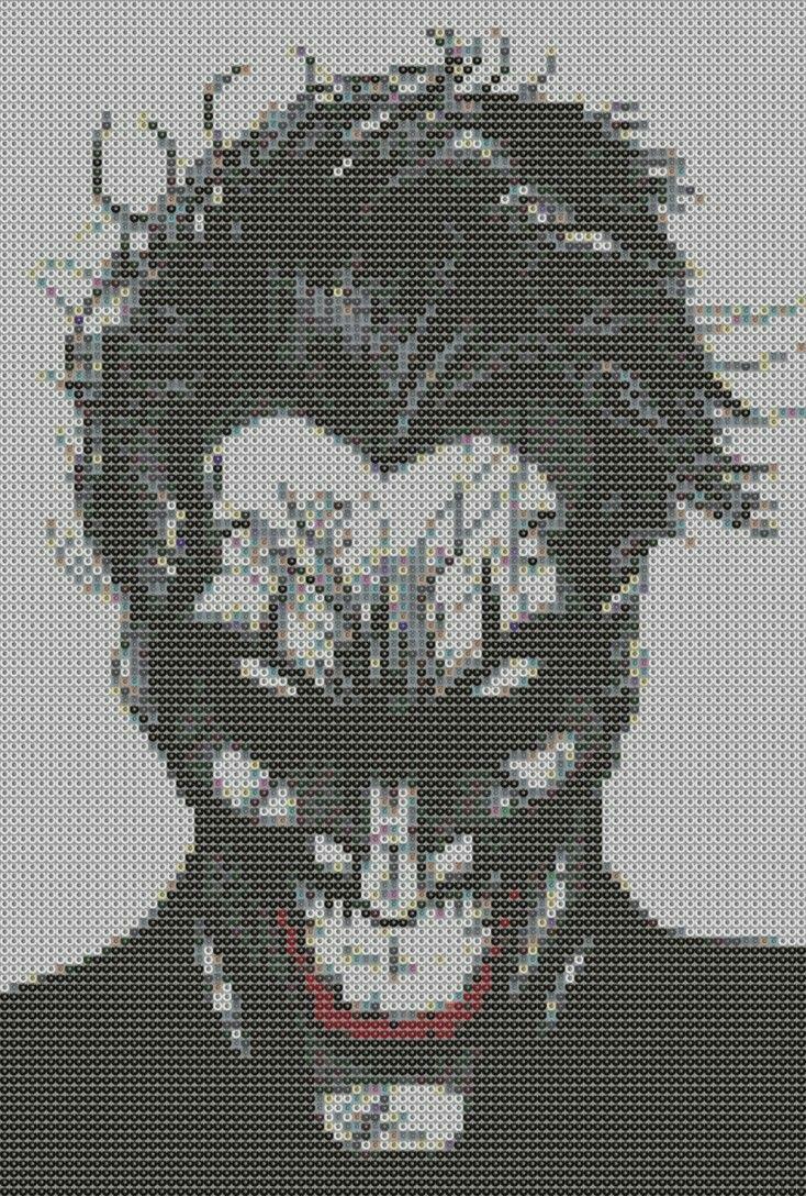 Batman Heath Ledger Joker Bead Pattern Bugelperlen Bugelperlen