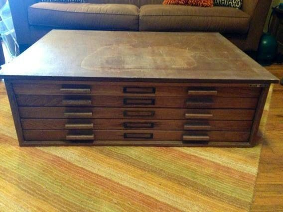 Flat File Cabinet Coffee Table   Google Search
