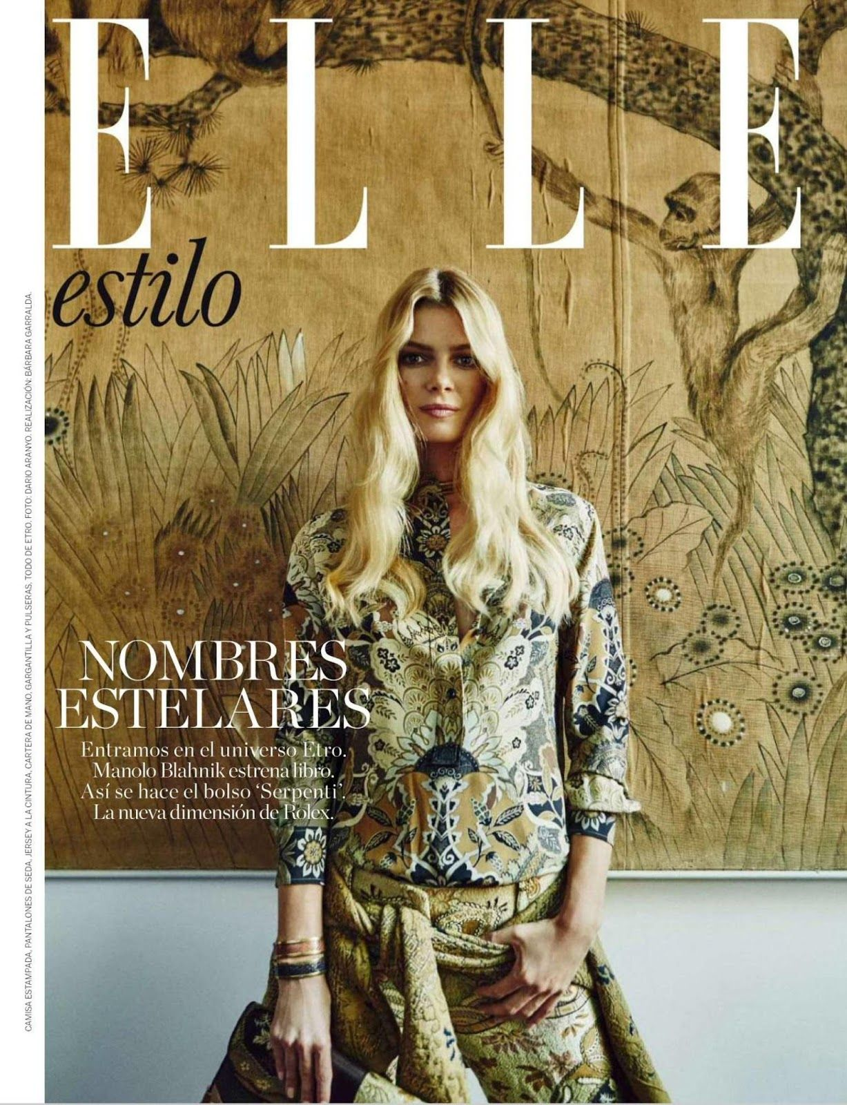 """Veronica Etro: Journey to the Heart of Fashion"" Cristina Tosio for ELLE Spain September 2015"
