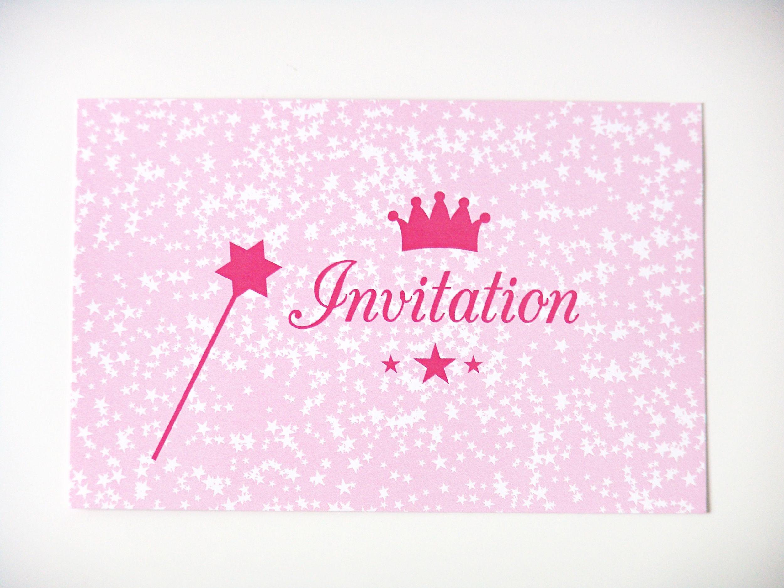 carte invitation anniversaire princesse
