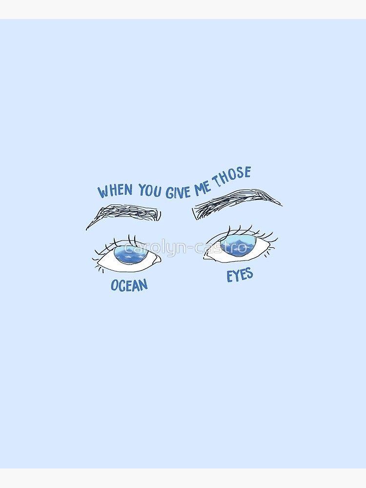 Ocean Eyes Poster By Carolyn Castro Redbubble Ocean Aesthetic Iphone Wallpaper Poster