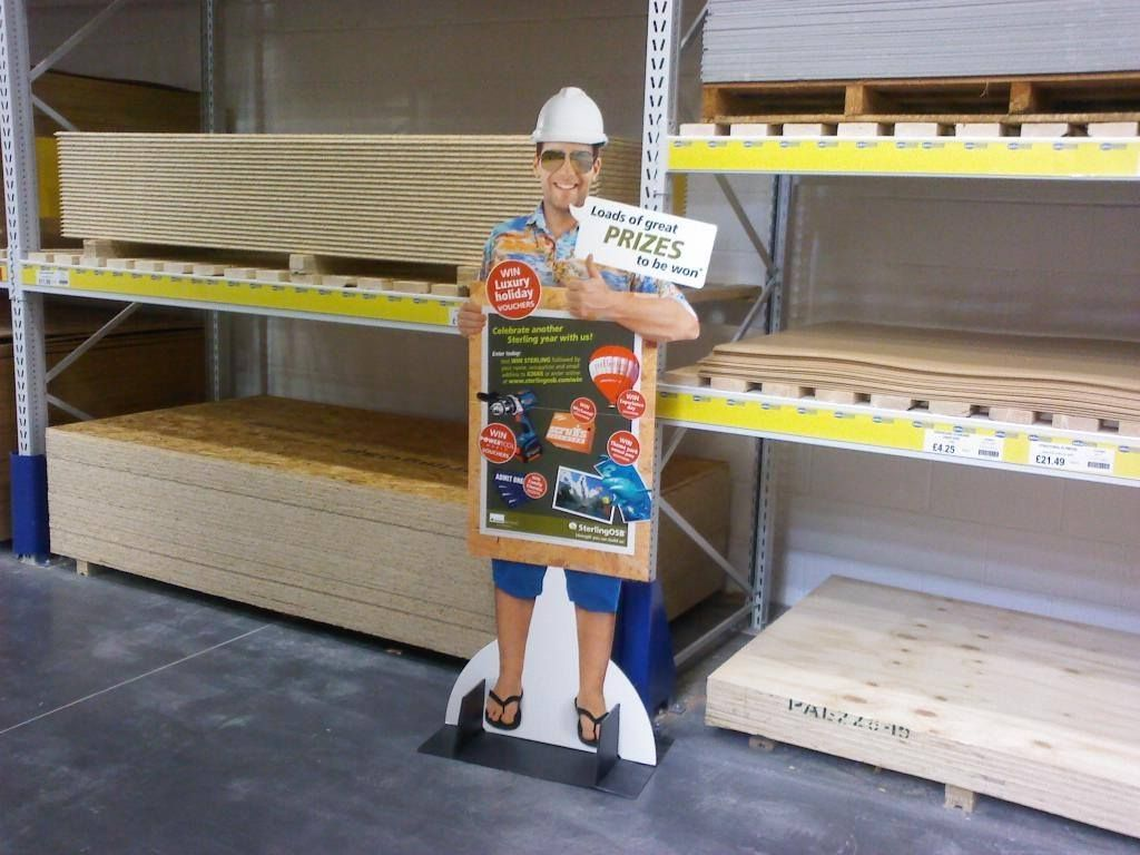 Look out for this fella in your timber merchant as part of our SterlingOSB campaign - plenty of great prizes to be won, including holidays and shopping vouchers