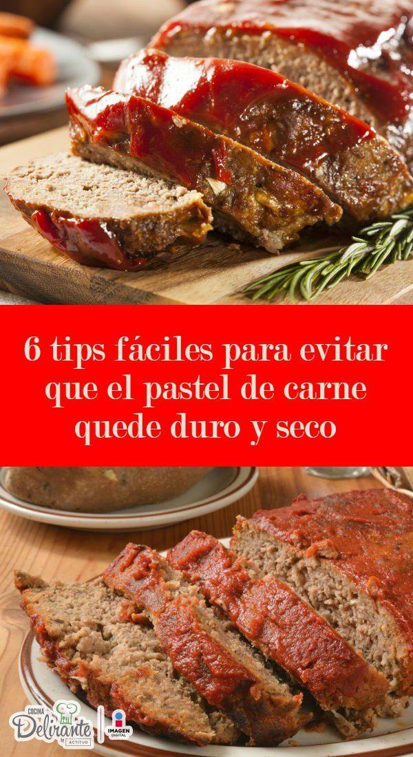 6 tips fáciles para evitar que el pastel de carne quede duro y seco