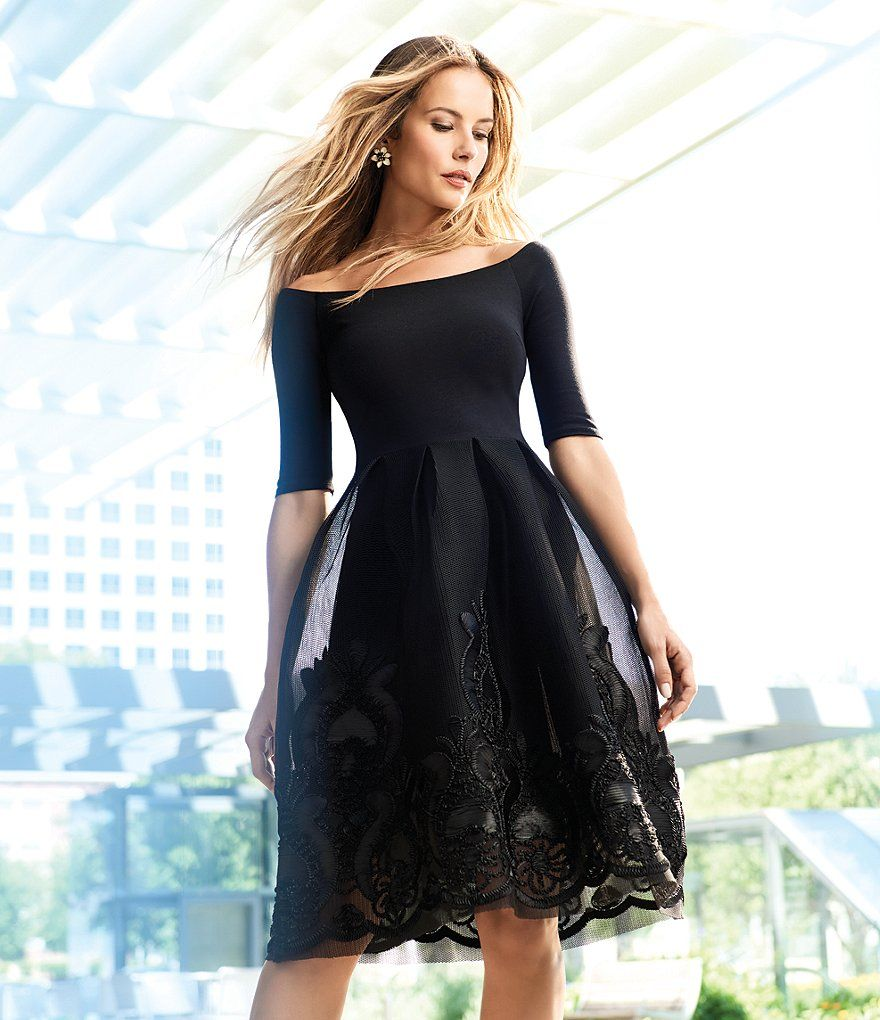 Shop for Gianni Bini Dana Off The Shoulder Embroidered Skirt Dress ...
