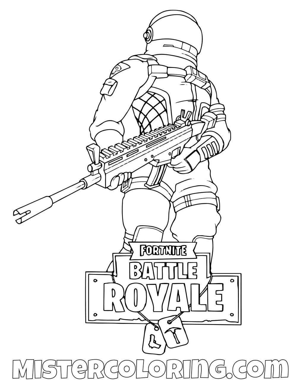 Free Dark Voyager With Scar Fortnite Coloring Page For Kids