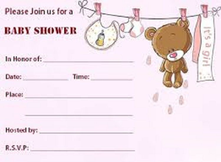 Blank Baby Shower Invitations Templates