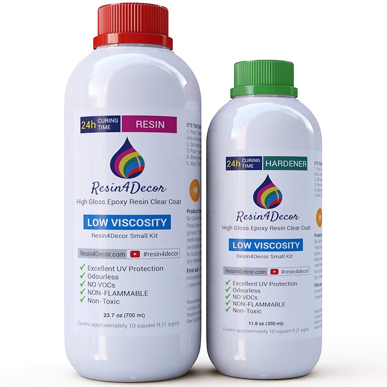 Epoxy Art Resin Clear Non-toxic UV Resin4Decor, 1000ml