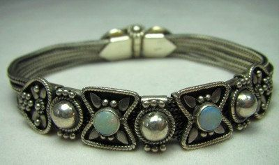 Sterling and opal Victorian slide bracelet by TheSpeckledPaw, $147.00