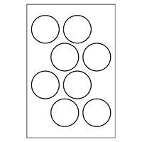 Free Avery® Templates - Round Label, 8 per 4x6 sheet