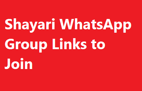 Whatsapp Shayari Group Join