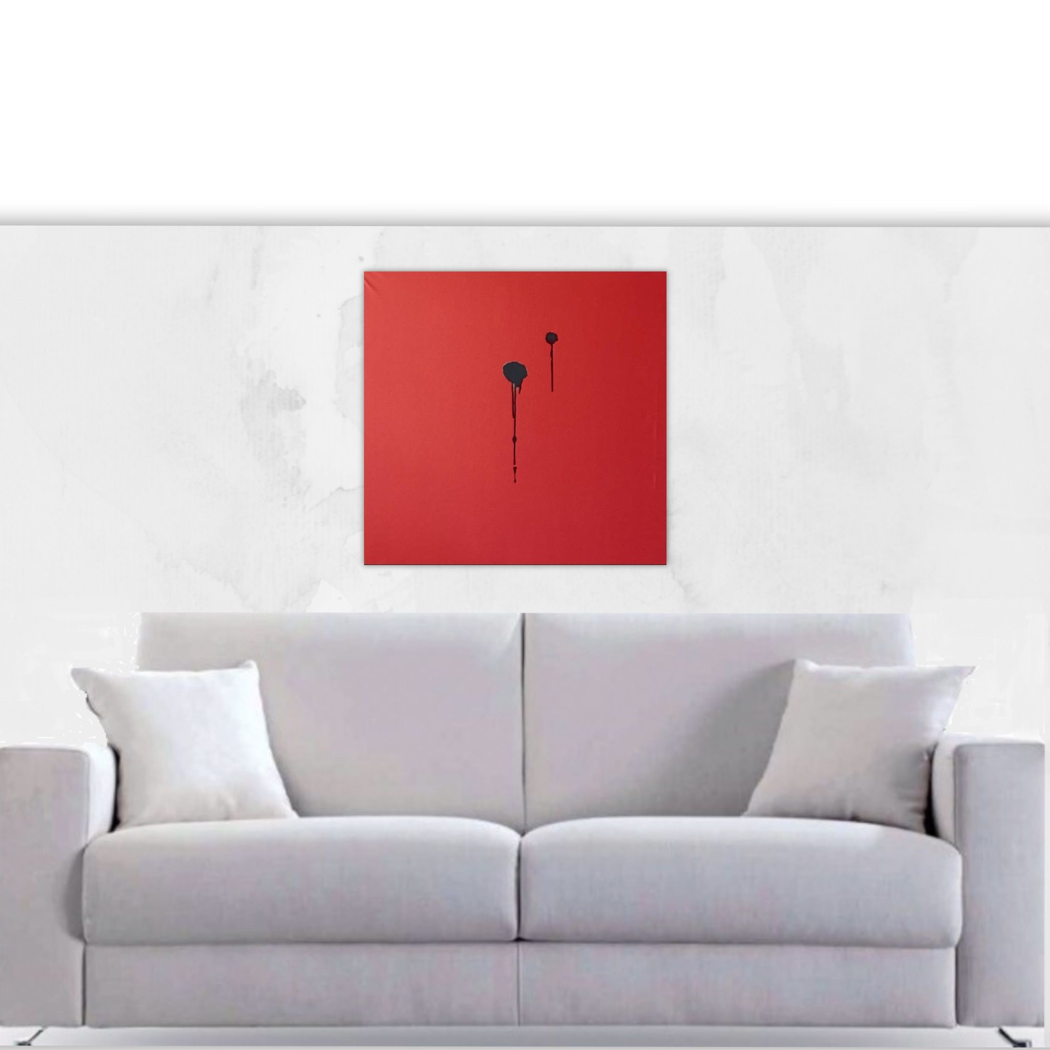 Creative Abstract Art Minimalist Modern Art Painting Square Hand Painted Canvas Unique Painting Gift Large Red Painting Livingroom Art In 2020 Minimalist Modern Art Living Room Art Unique Paintings #red #paintings #for #living #room