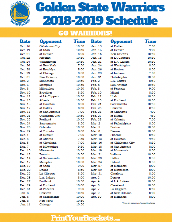 It's just an image of Crush Golden State Warriors Printable Schedule