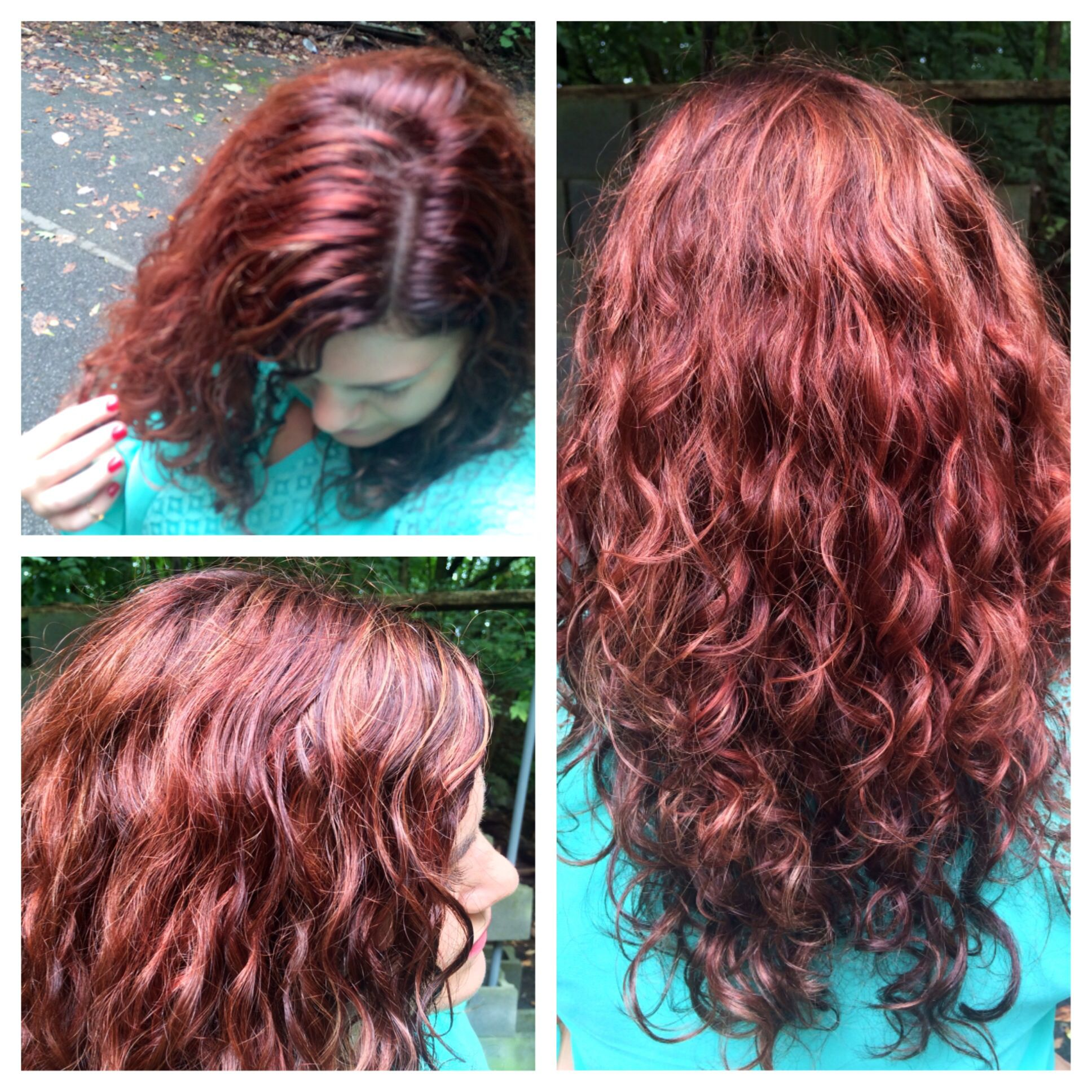 My New Hair I Added Ion Color Brilliance Creme Dark Intense Red Blonde To What I Already Had Red To Blonde Hair Color Shampoo Ion Color Brilliance
