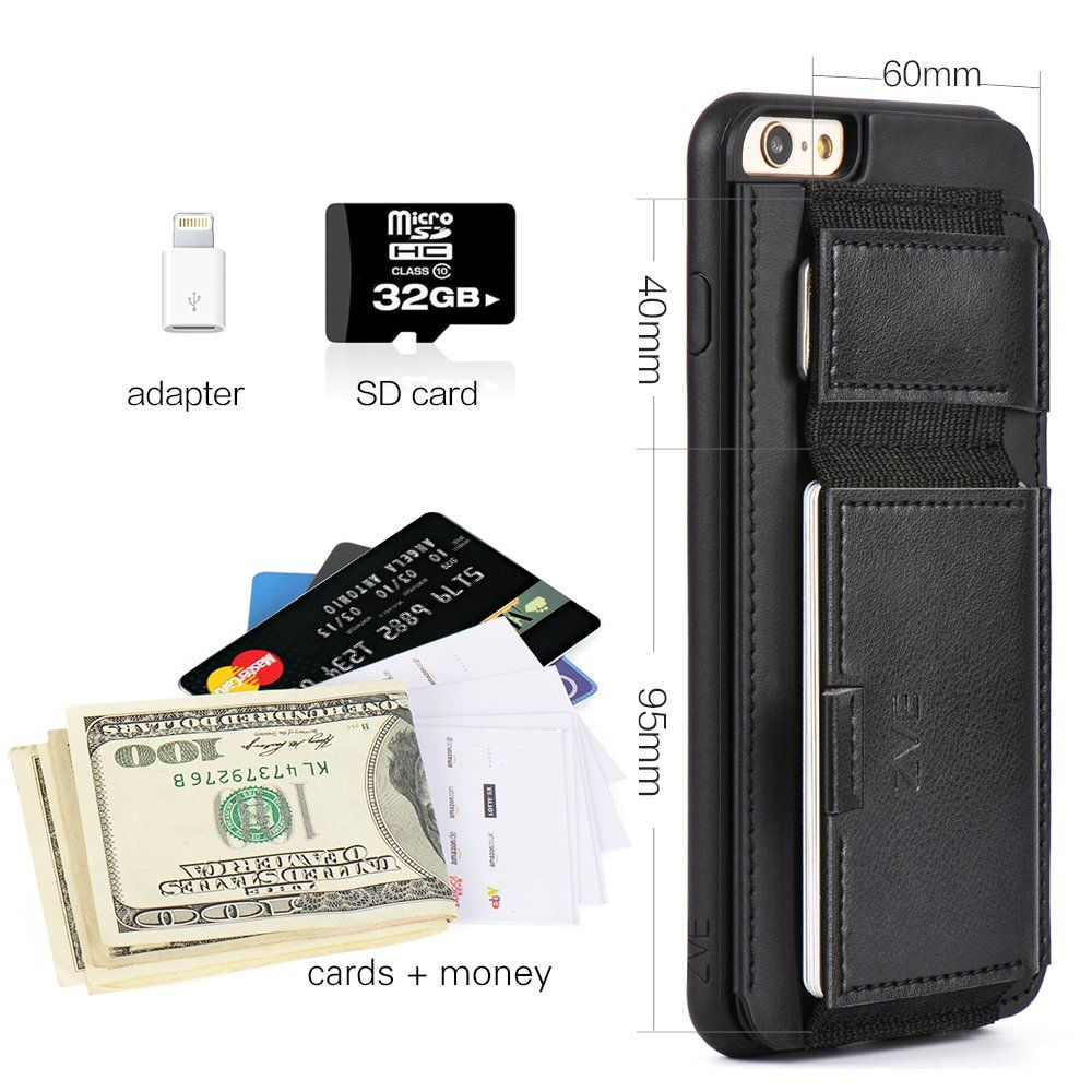 Amazon Com Iphone 6s Plus Leather Case Wallet Case For Iphone 6