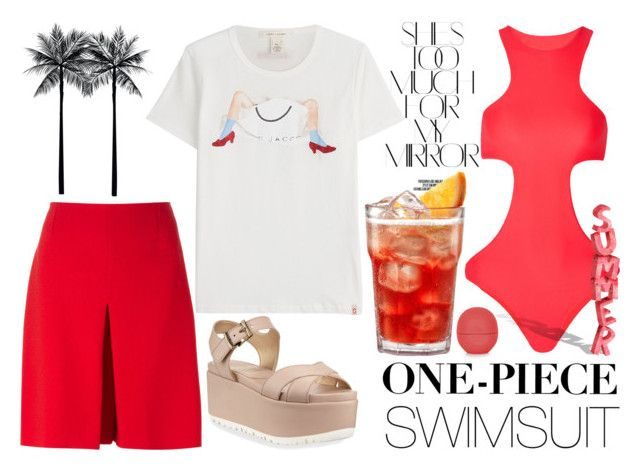 """""""Summer Time"""" by carolinarcieri ❤ liked on Polyvore featuring Stuart Weitzman, Carven, Mikoh, Rika, Topshop and Marc Jacobs"""