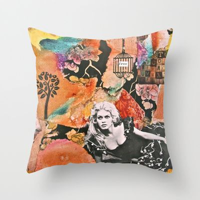 Free Spirit (V.2)  Throw Pillow by LadyJennD - $20.00