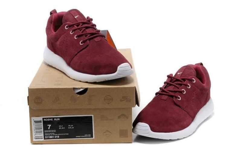 Nike Roshe Run Mens Dark Red White Buy UK