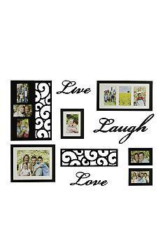 Melannco Live Love Laugh 10 Piece Frame Set Belk Frames Home Design Decor Household Decor Frame