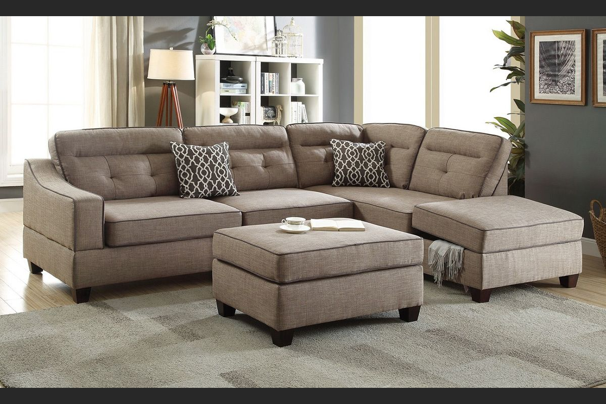 Superb 3Pcs Sectional Sofa Set Mocha In 2019 New Futons Accent Dailytribune Chair Design For Home Dailytribuneorg
