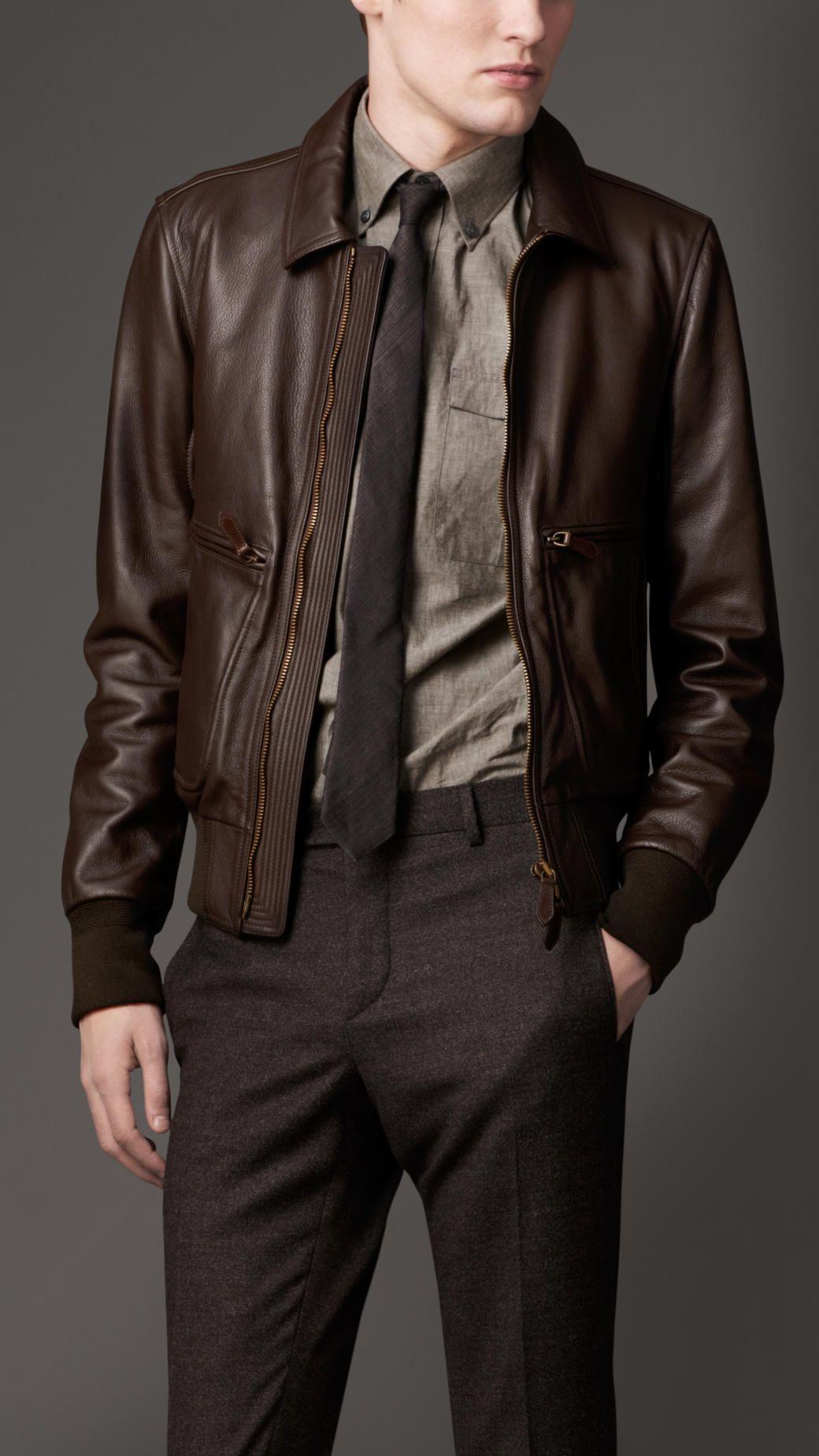 Men S Designer Outerwear Burberry Official Jackets Men Fashion Leather Jacket Outfit Men Leather Jacket [ 1849 x 1040 Pixel ]
