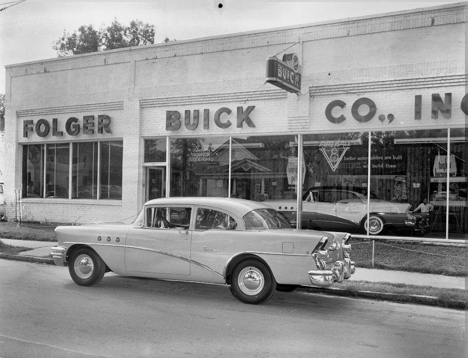 1955 Folger Buick Co Inc Dealership Charlotte North Carolina Car Dealership Buick Buick Cars