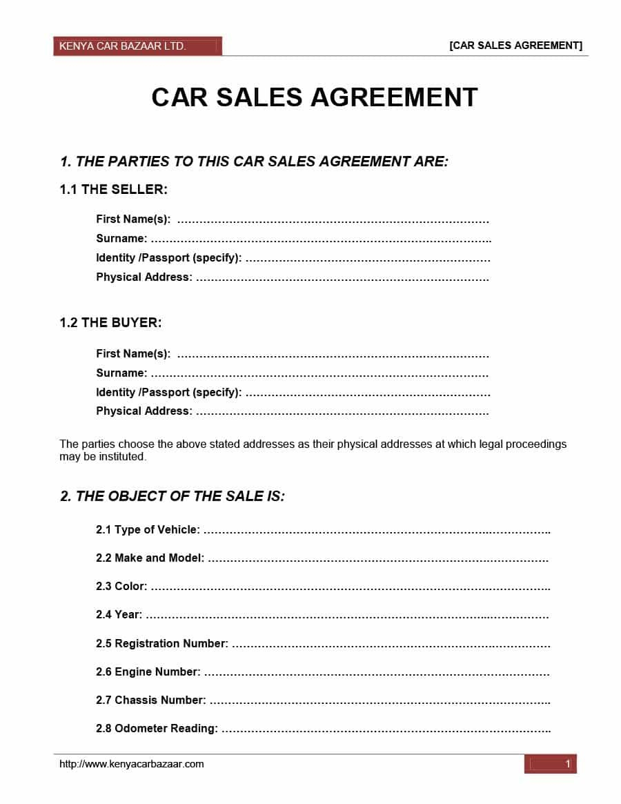 Printable Vehicle Purchase Agreement Templates ᐅ Template Lab Inside Car Purchase Agreement Template 10 P Contract Template For Sale Sign Purchase Agreement