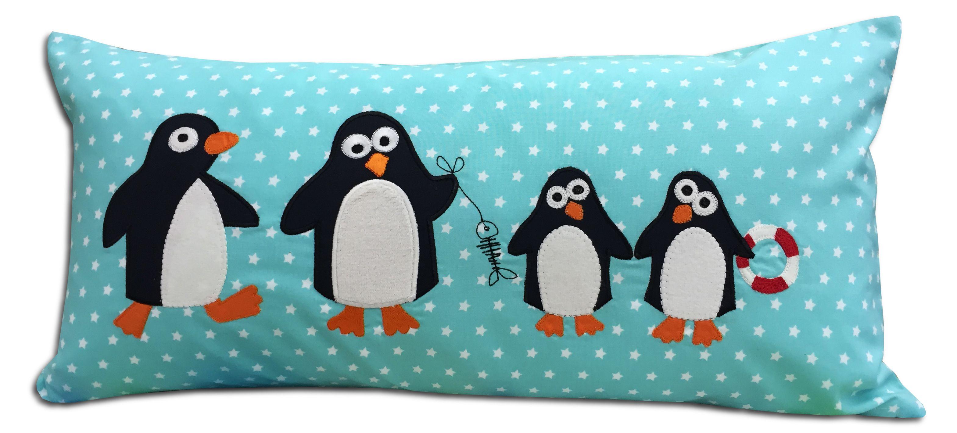 Pinguin-Kissen | nähen | Pinterest | Pinguine, Badeponcho und Kissen