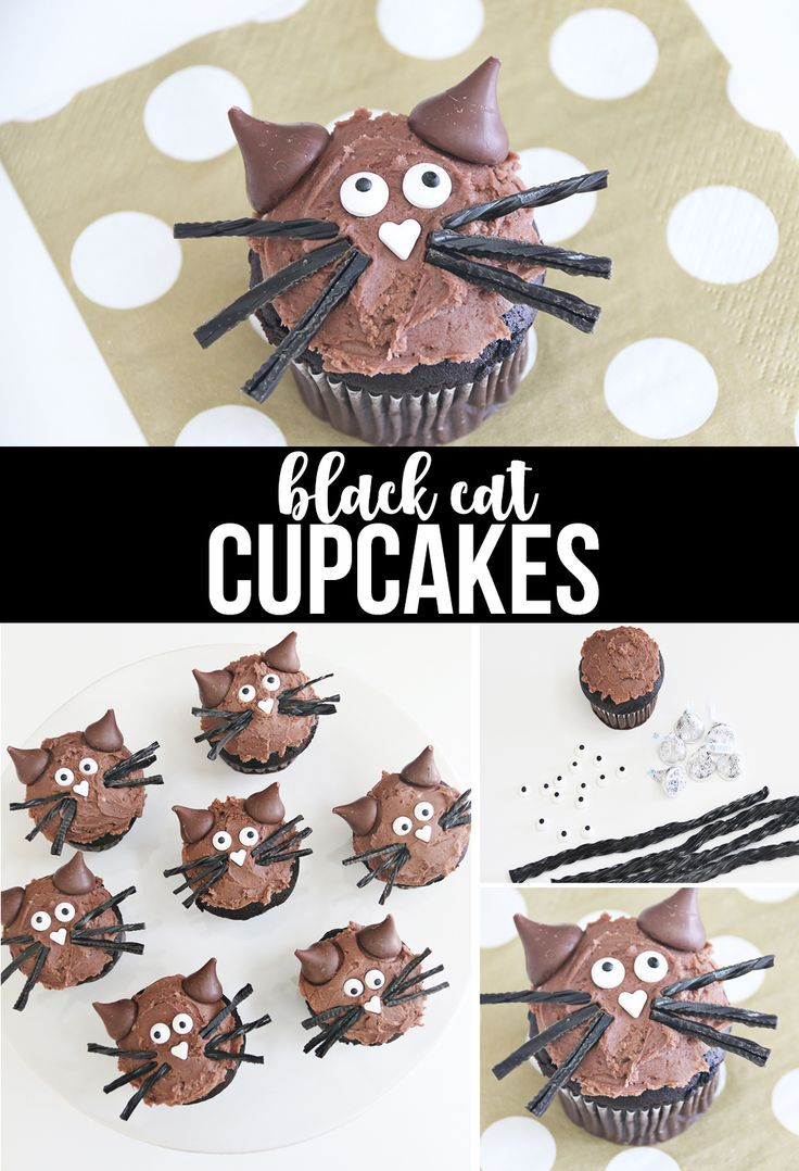 DIY Cat Cupcakes for Halloween #katzengeburtstag