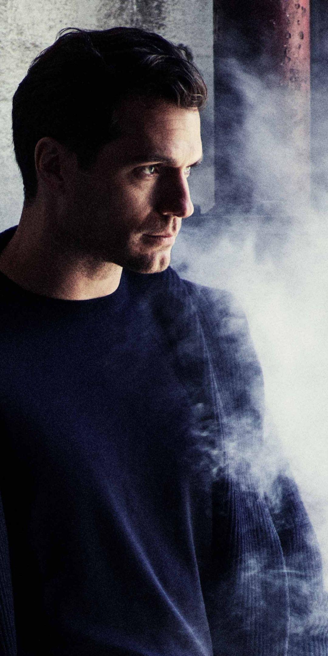 Henry Cavill Leaning To Wall Smoke Photoshoot 1080x2160