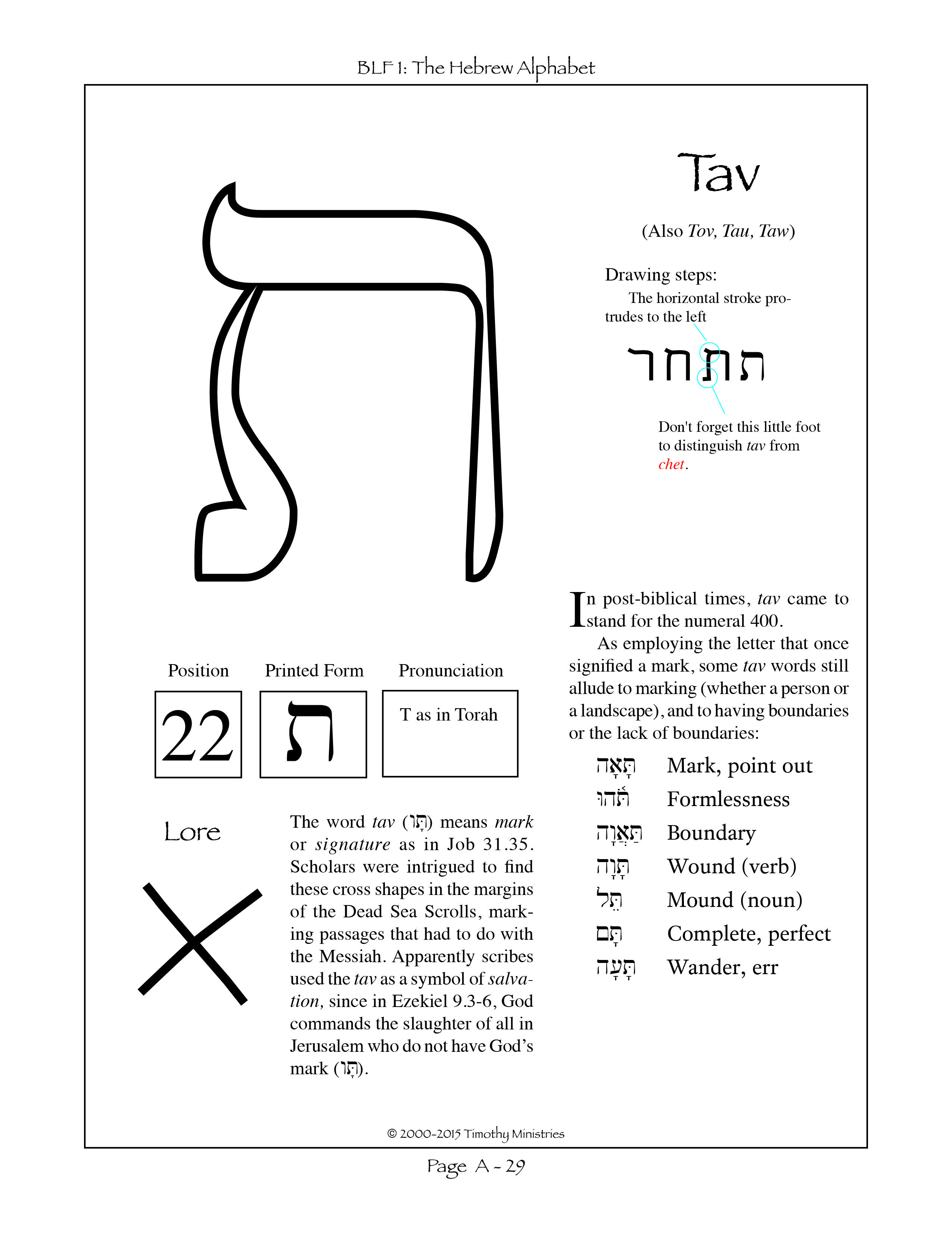 Predownload: The Final Letter Of The Hebrew Alphabet Learn Hebrew Alphabet Learn Hebrew Hebrew Lessons [ 3301 x 2550 Pixel ]