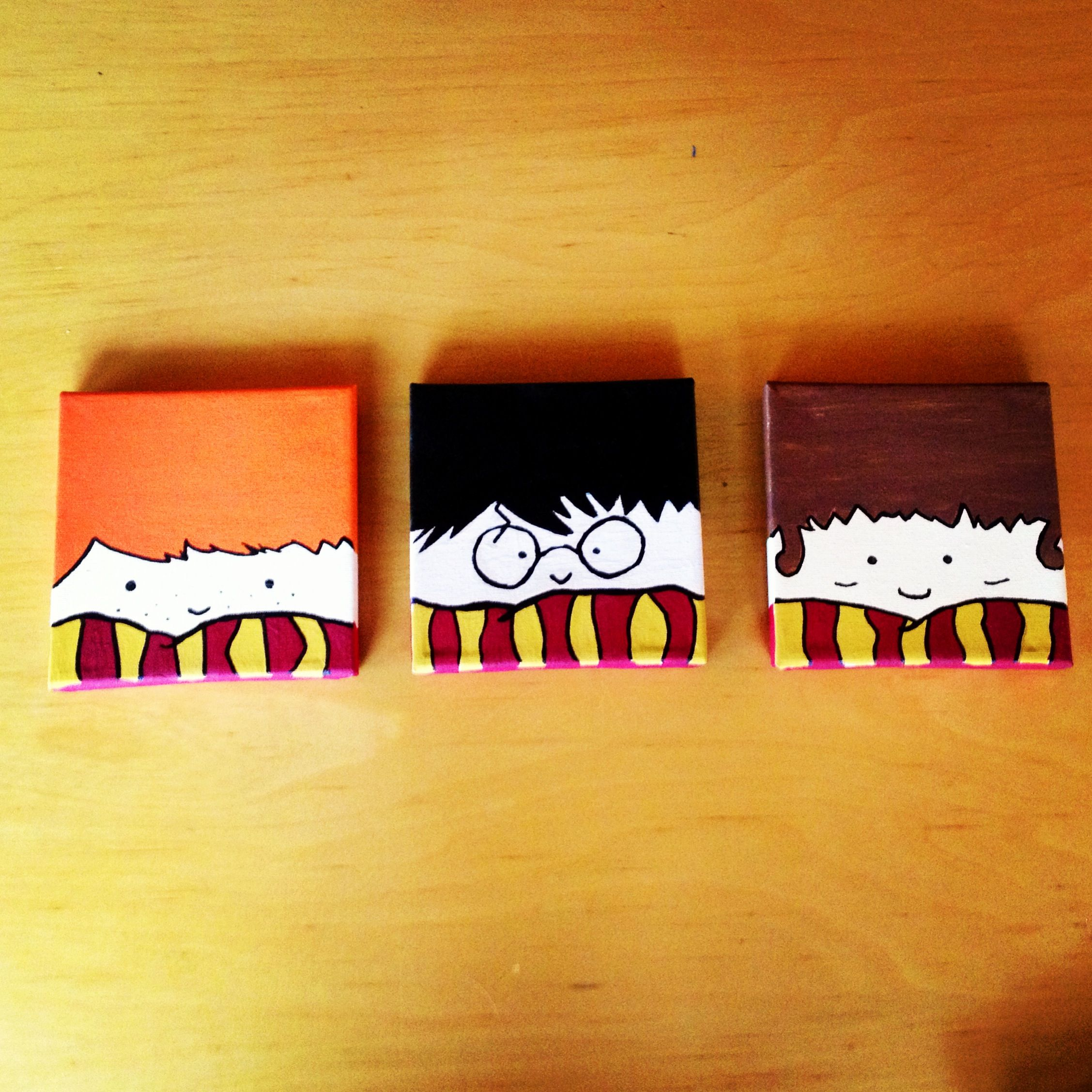 Harry Potter canvases #diy #painting #canvas #harry potter | My ...