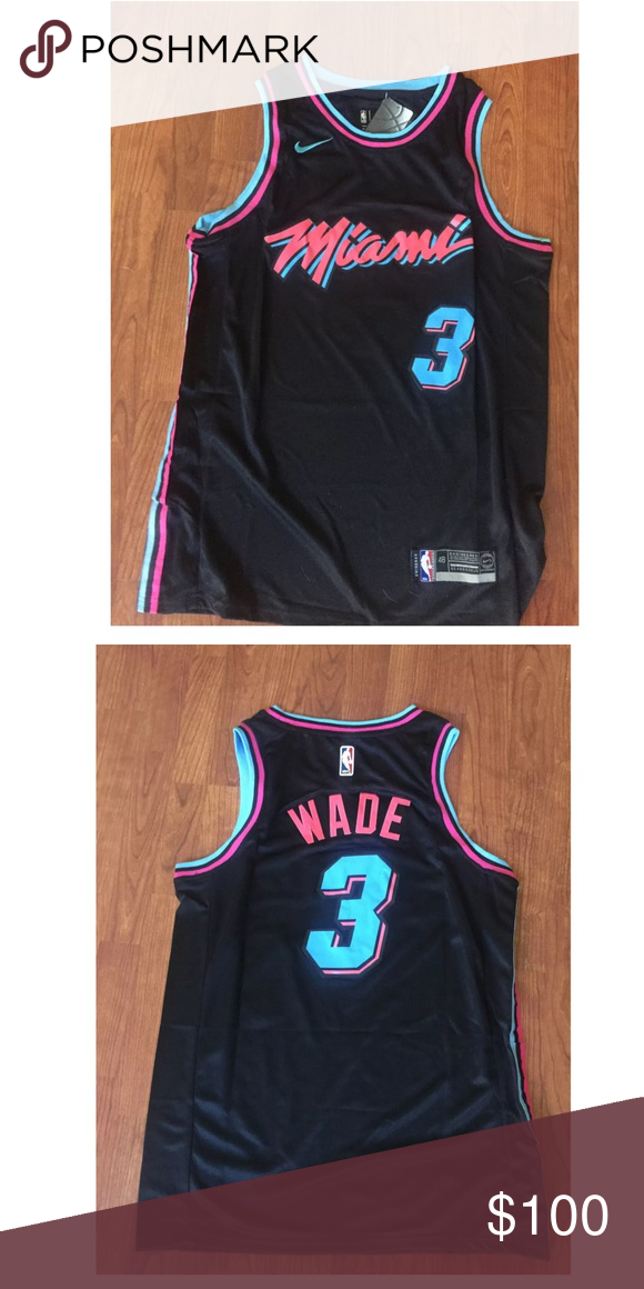 quality design 68a9d 06a07 Dwayne Wade Miami Heat no. 3 Black Jersey Sizes Small-XL ...
