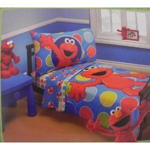 Merveilleux Sesame Street Elmo 4 Piece Toddler Bedding Set
