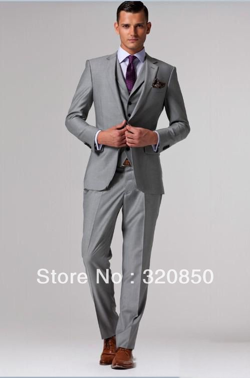 dark brown men's slim fit three piece uits | Men Suit Custom Made ...