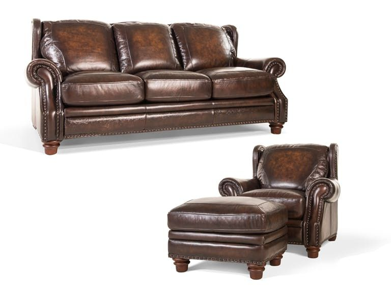 Bob Mills Furniture Leather Sofa And Loveseat Chair And Ottoman