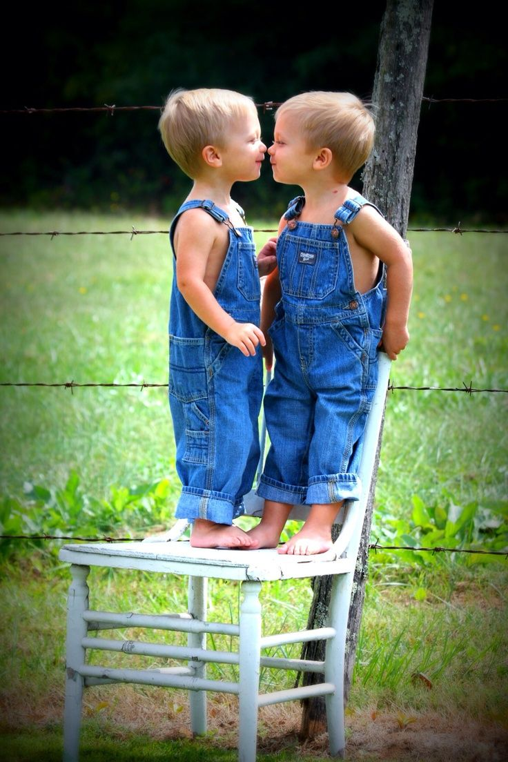 Triplets 4 Year Old Overalls