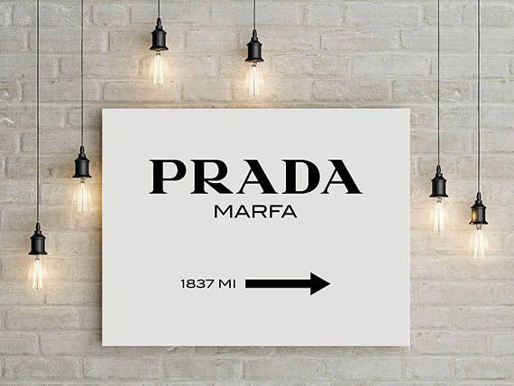 Prada Marfa Fashion Print Canvas Art Large Wall Art Prada Print Fashion Illustration Canvas Print Large Canvas Art Prada Marfa Canvas F Plakat Kartinki