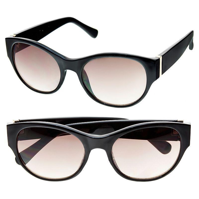 Apt. 9® 55mm Women's Cat-Eye Sunglasses, Black