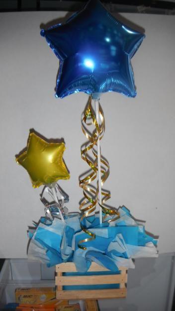 1350324942_446576147_1-Fotos-de--Centros-de-mesa-con-globos-y-flores