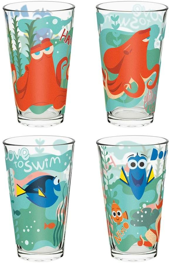8dc6f68c9e Zak Designs Disney / Pixar Finding Dory 4-pc. 16-oz. Glass Tumbler Set