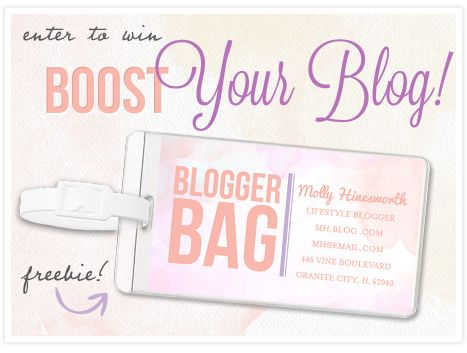 #boostyourblog get a free bag tag for entering and enter to win $100 for your blog conference trip this summer!