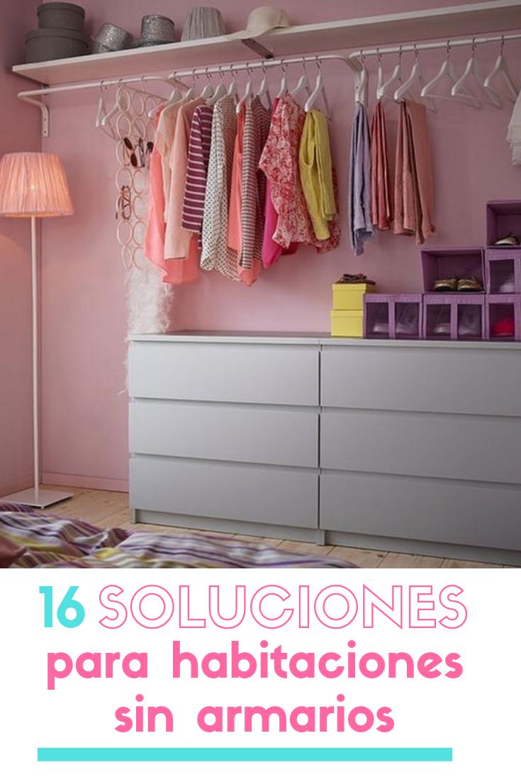 Soluciones para habitaciones sin armarios