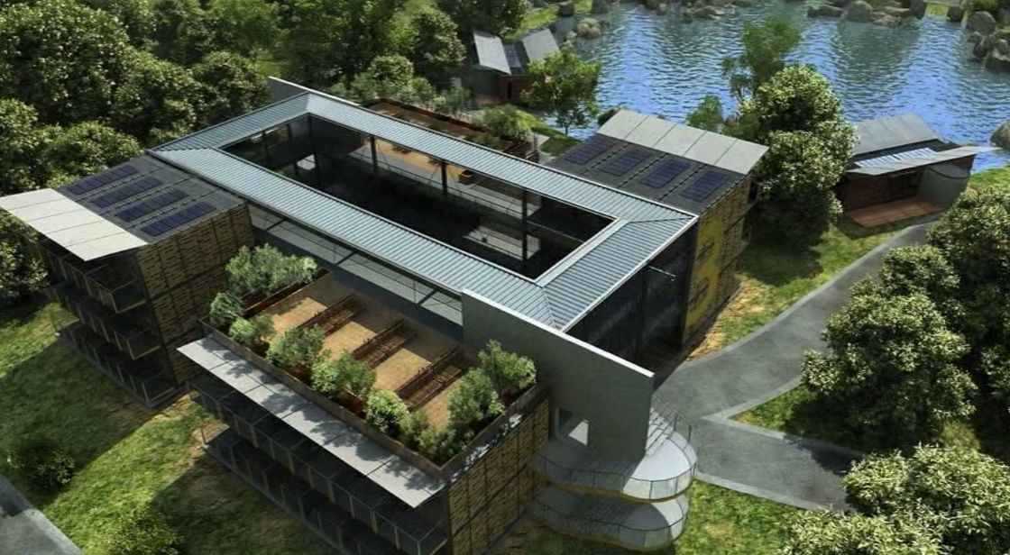 China movable prefab container homes container motor hotel for E house manufacturers usa