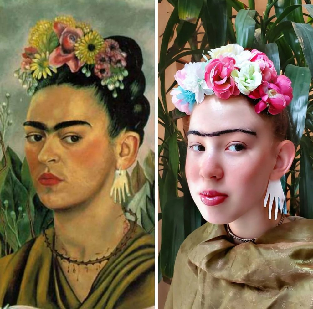 Art Recreation Is The Only Good Instagram Challenge Famous Portraits Art Famous Artwork