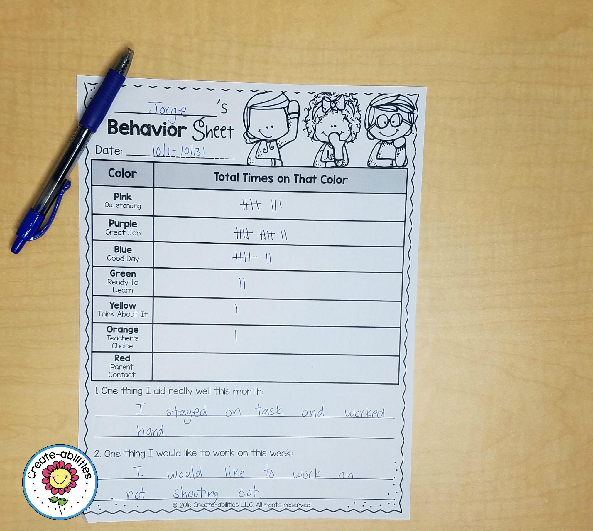 Clip Chart Behavior Management System EDITABLE | Positive notes home ...