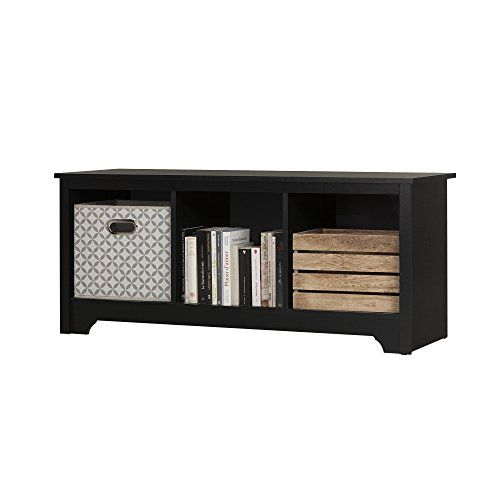 Home Decorators Collection | South Shore Vito Cubby Storage Bench Pure Black  U003eu003eu003e Click