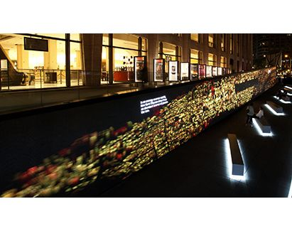 BM THINK Exhibit's Digital Wall at Lincoln Centre