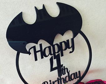 Batman Cake Topper with number Birthday Cake Topper Cake Decoration