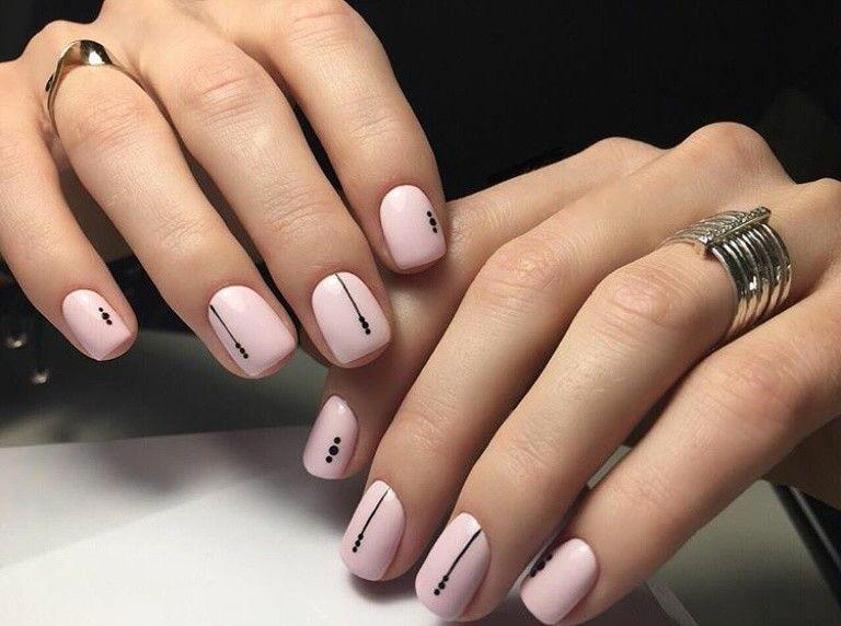 дизайн ногтей минимализм 2
